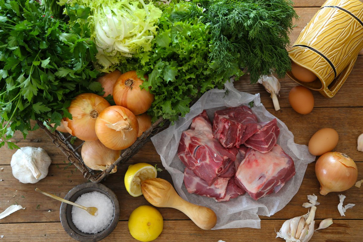 Foti's Lamb Fricassée Ingredients