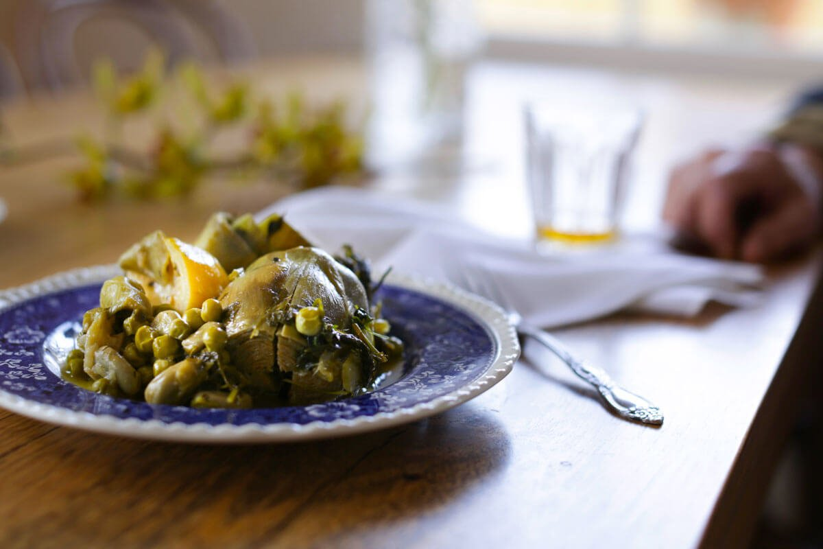 Nicholaos' Artichokes with Broad Beans